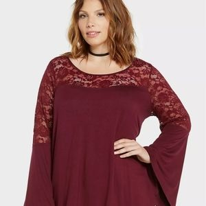 Torrid lace top NWT